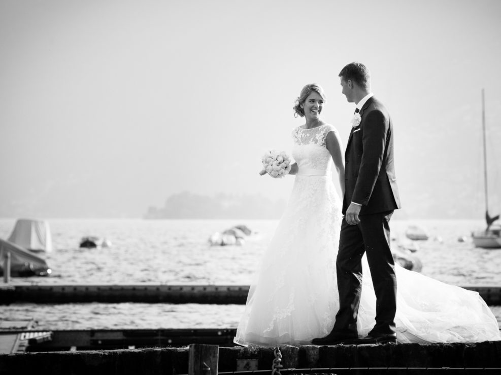 Lake Maggiore wedding - Bride and Groom-