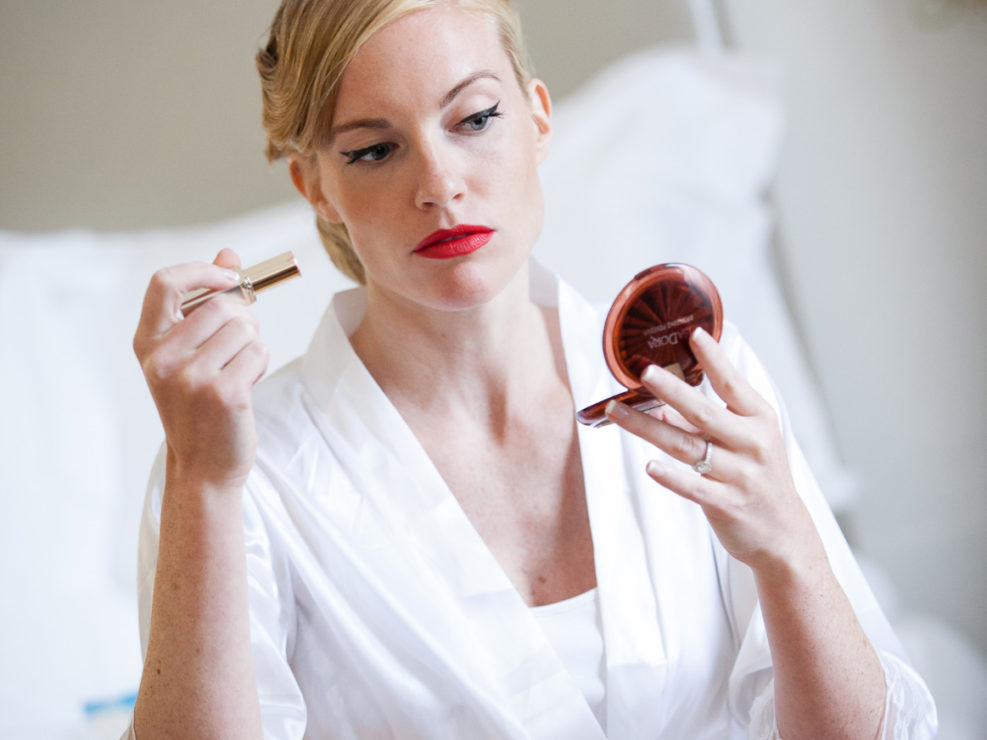 luxury wedding in italy bride make-up