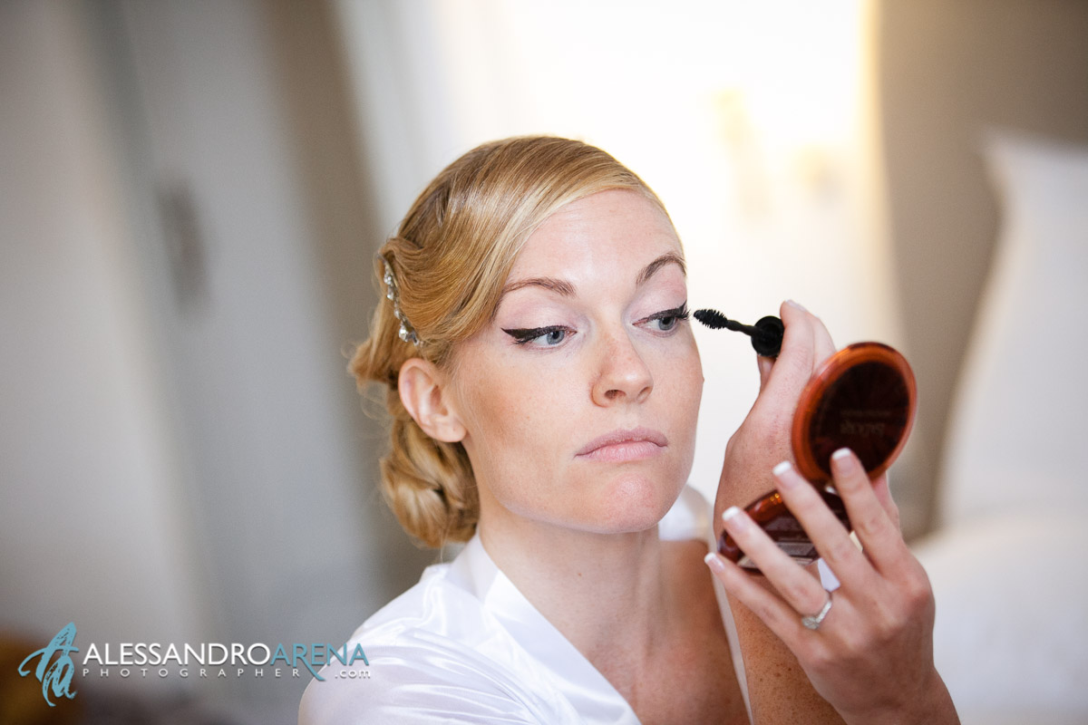Villa Borghi wedding - Bride's self make-up