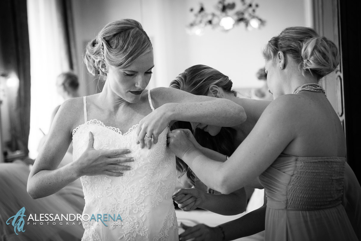 Villa Borghi wedding - Bride's getting ready