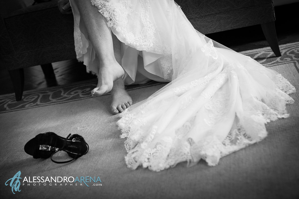 Villa Borghi wedding - Bride's shoes