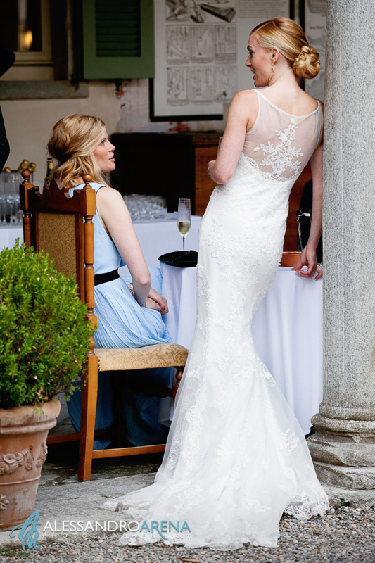 Wedding dress - Villa Bossi - Wedding reception