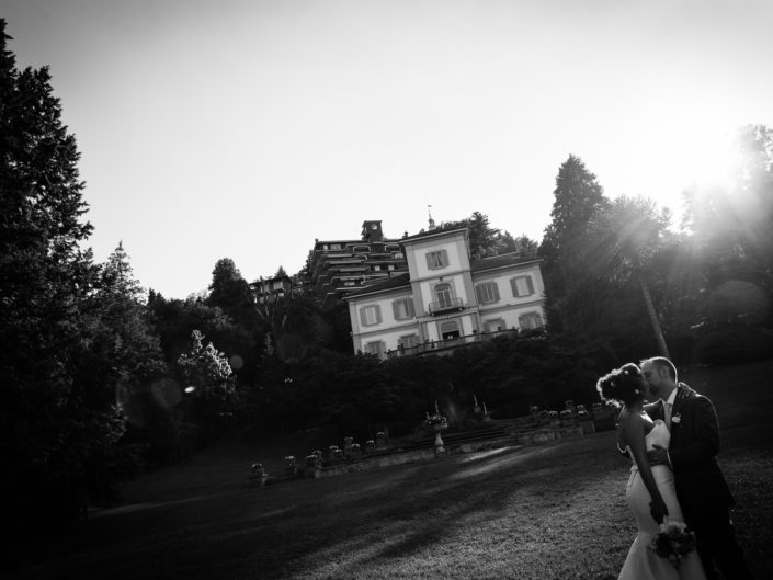 Villa Muggia luxury wedding locaion - bride and groom