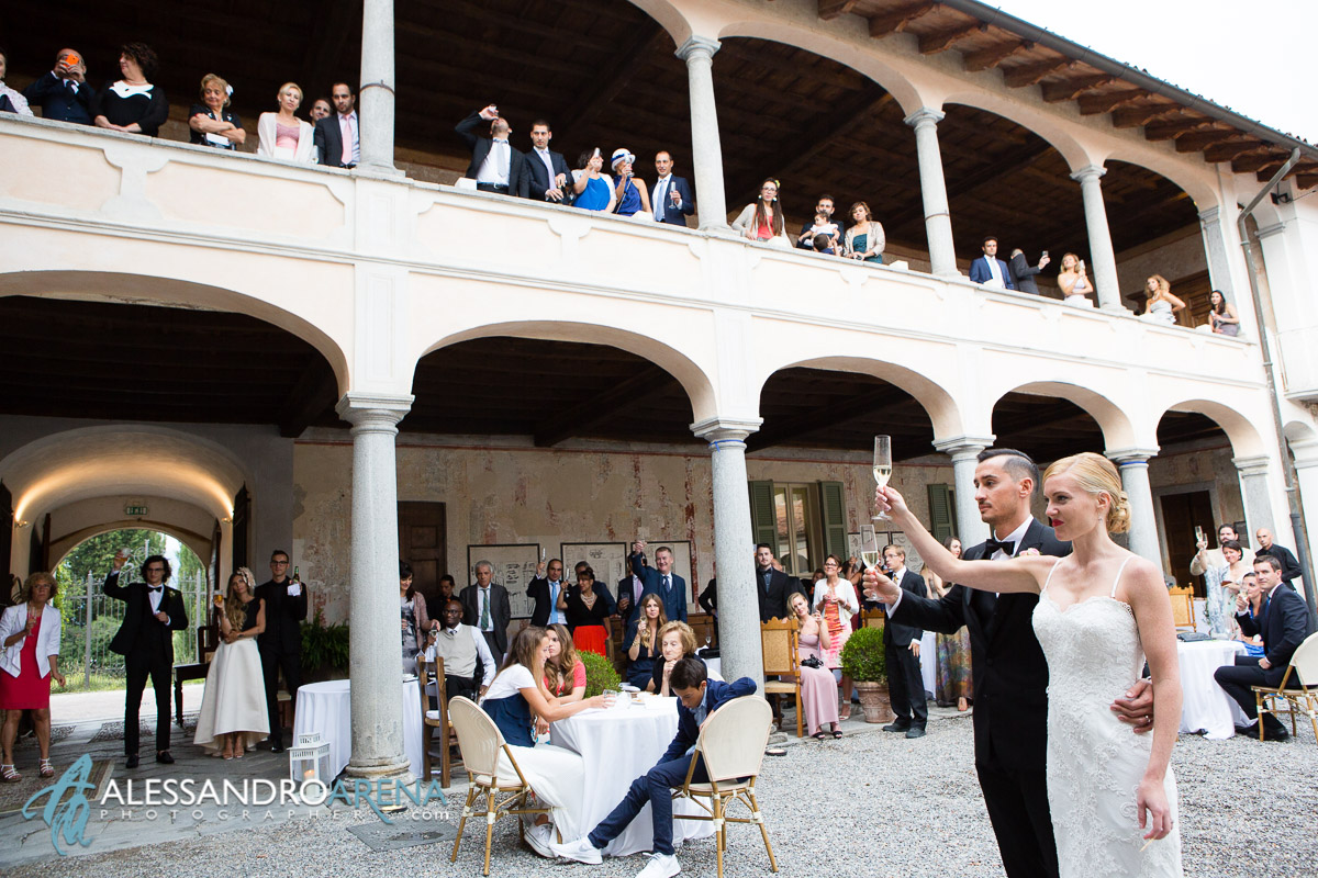 Wedding Toast - Wedding reception in Italy Lombardy Varese