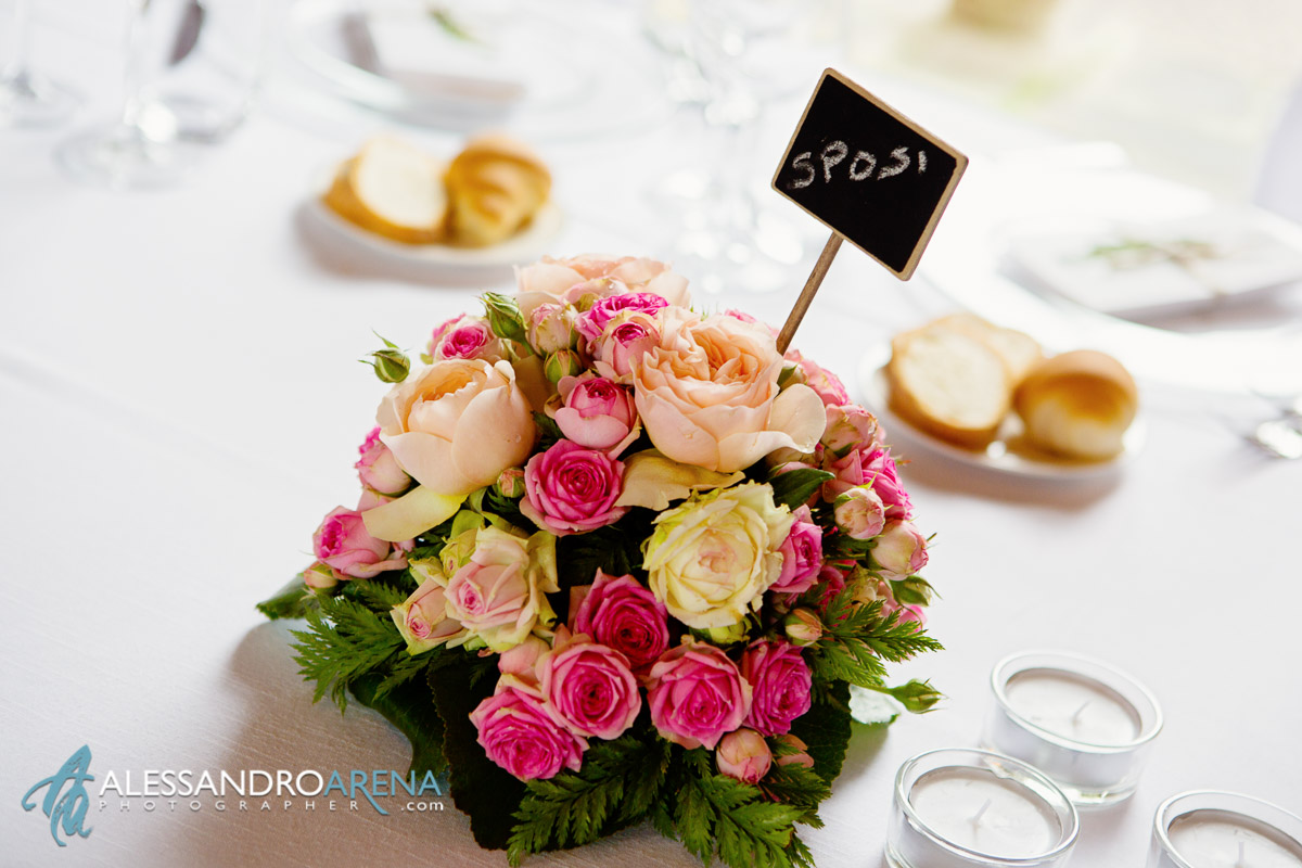 Wedding Flowers decoration - Wedding reception in italy, Lombardy Varese