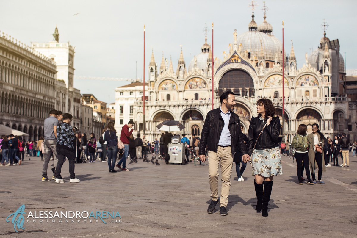 Engagement session Venice photographer - Piazza San Marco