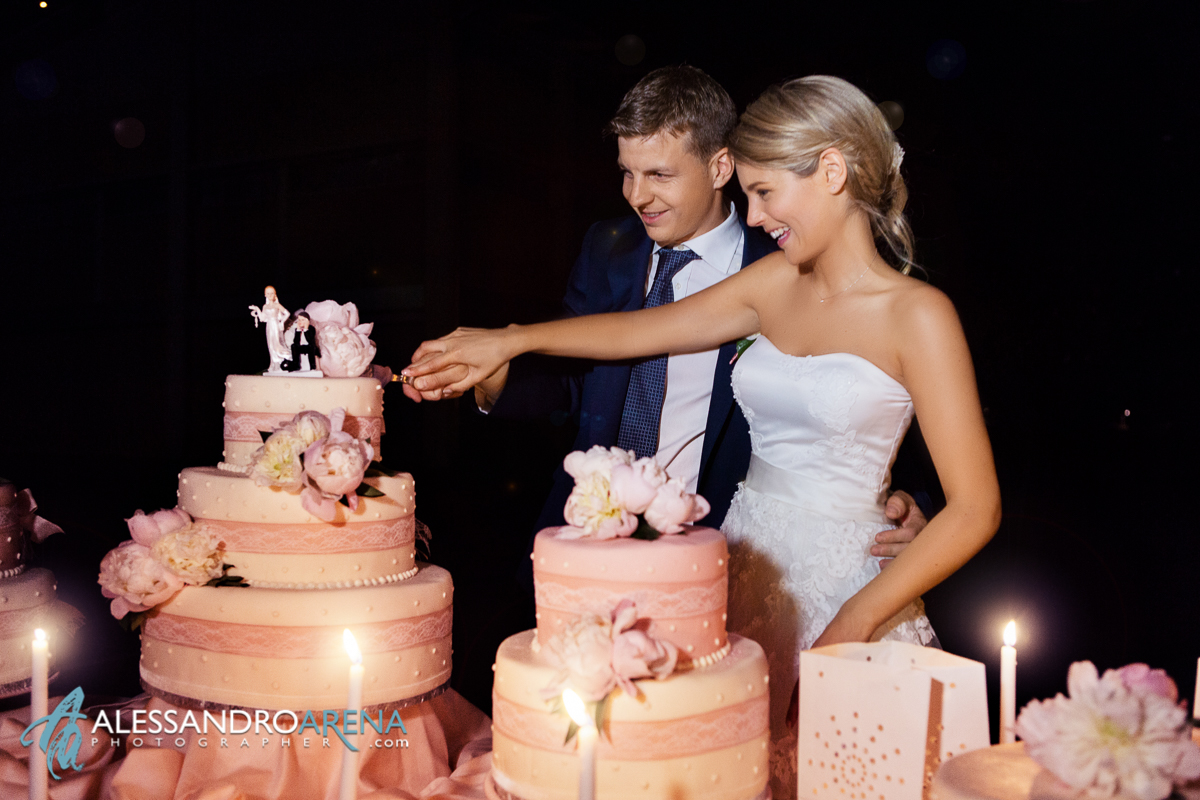 Wedding reception in Lake Maggiore - Wedding cake