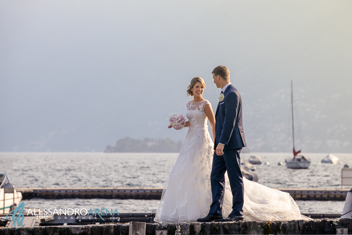 Wedding portraits in lake Maggiore Ascona