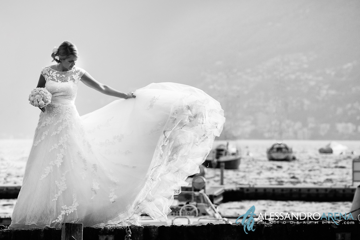 Wedding in lake Maggiore Ascona -Bride's dress