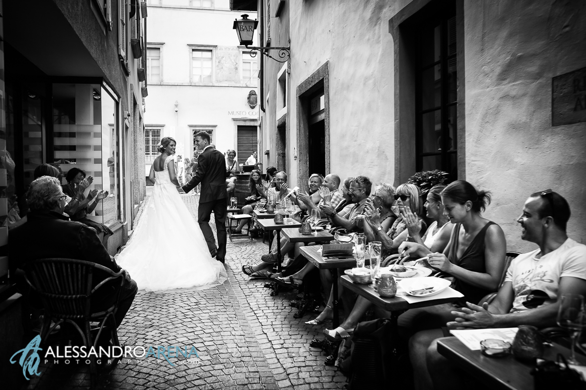 Bride and groom in Ascona - Wedding Photographer