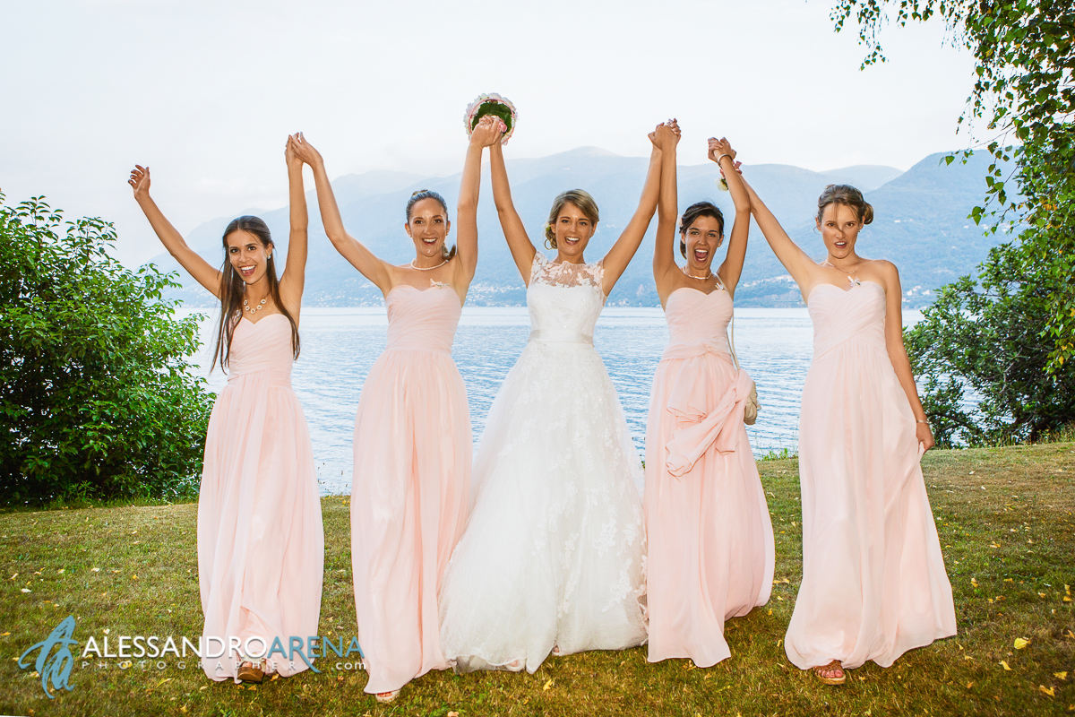 Bride and her Bridesmaids - Location Lake Maggiore