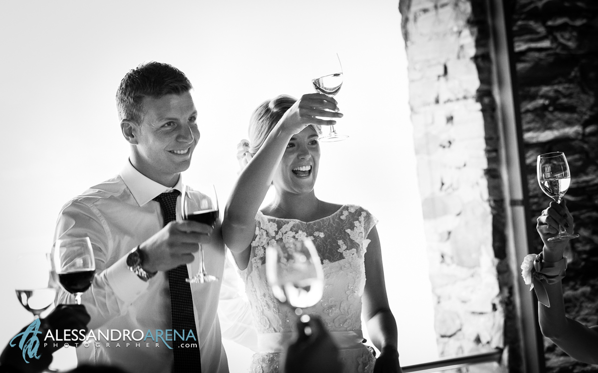 Wedding Toast - Centro dannemann Brissago - Wedding reception in Lake Maggiore