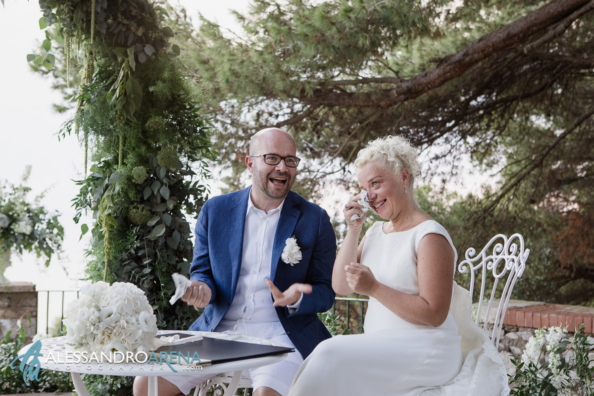 Italian wedding ceremony in Anacapri - Emotion