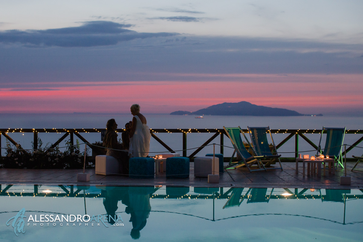 Luxury wedding venue Capri - Sunset atmosphere, island of ischia