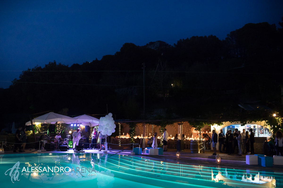Luxury wedding venue Capri - Sunset atmosphere