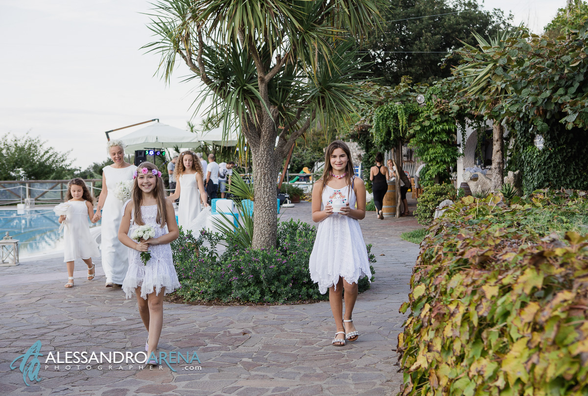 Wedding in Anacapri - Bridesmaids