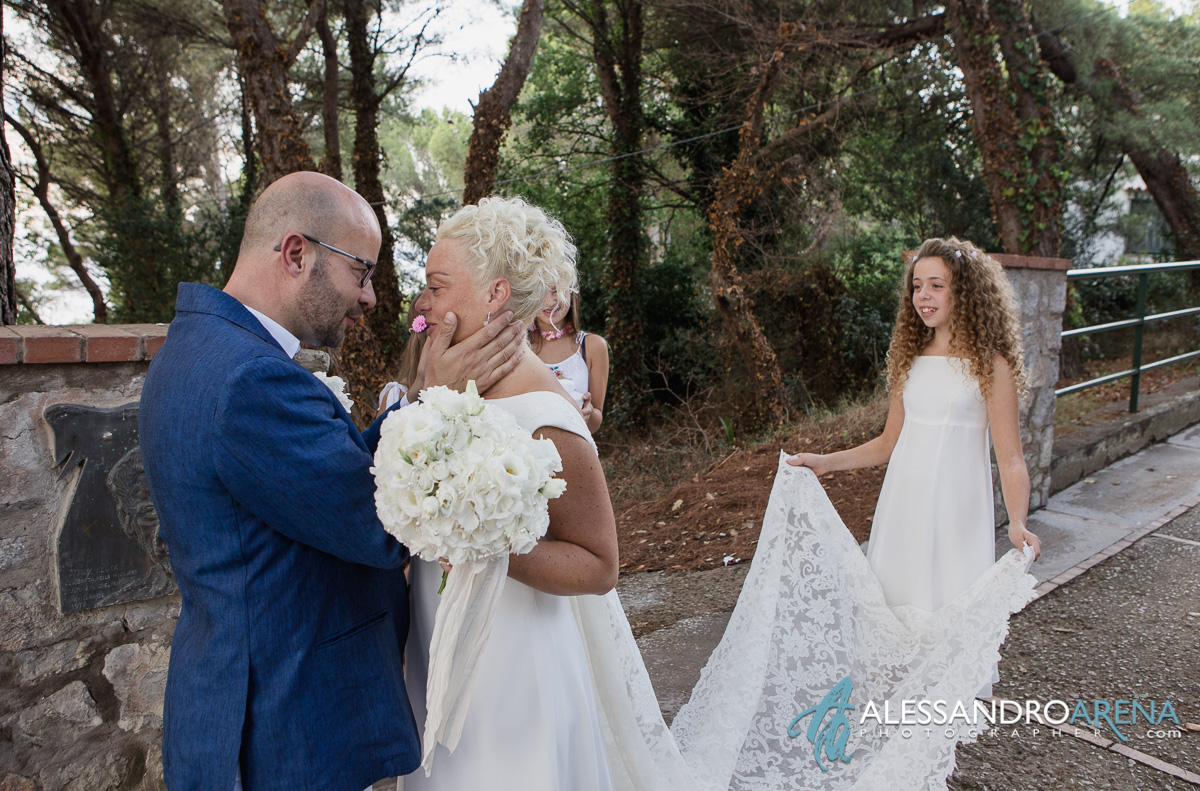 Wedding ceremony in Anacapri - Bride and Groom firstlook