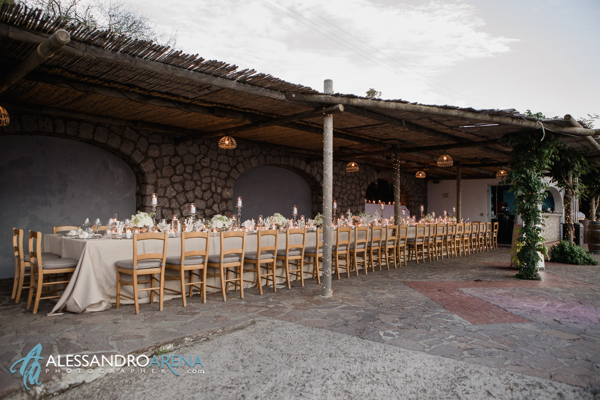 Wedding reception Anacapri, set ups - Wedding planning Capri
